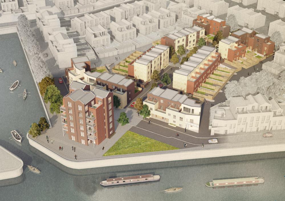 projectscene.uk website: picture of Trent Basin development