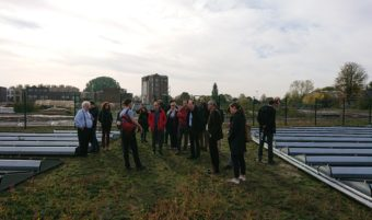 Tour of Trent Basin, visiting the Urban Solar Farm